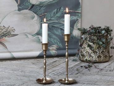Chic Antique Kerzenständer antik Messing