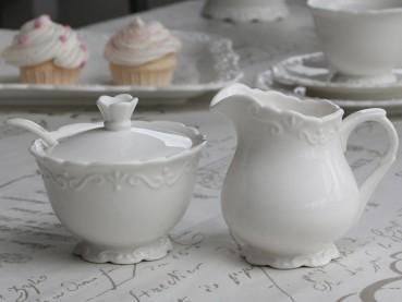 Chic Antique Provence Milchkännchen - Zuckerdose Landhaus