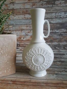 Vintage Vase weiß mit Henkel Royal KPM 60er/70er Jahre