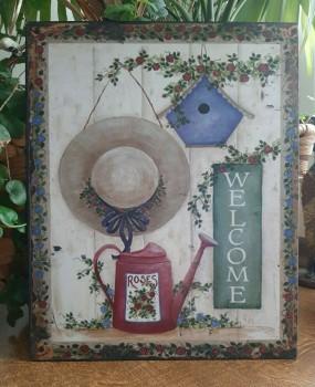 Blechschild WELCOME - Nostalgie im Vintage Look