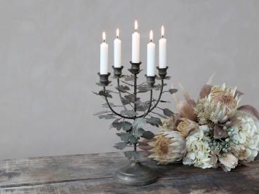 Chic Antique Altfranzösischer Kerzenständer 5-flammig