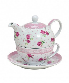 "Tea for one ""Pink-Rose"""