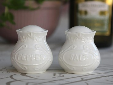Chic Antique Provence Salz & Pfeffer Set Landhaus