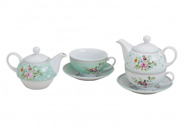 "Teekannen-Set Tea for one ""Blumen"""