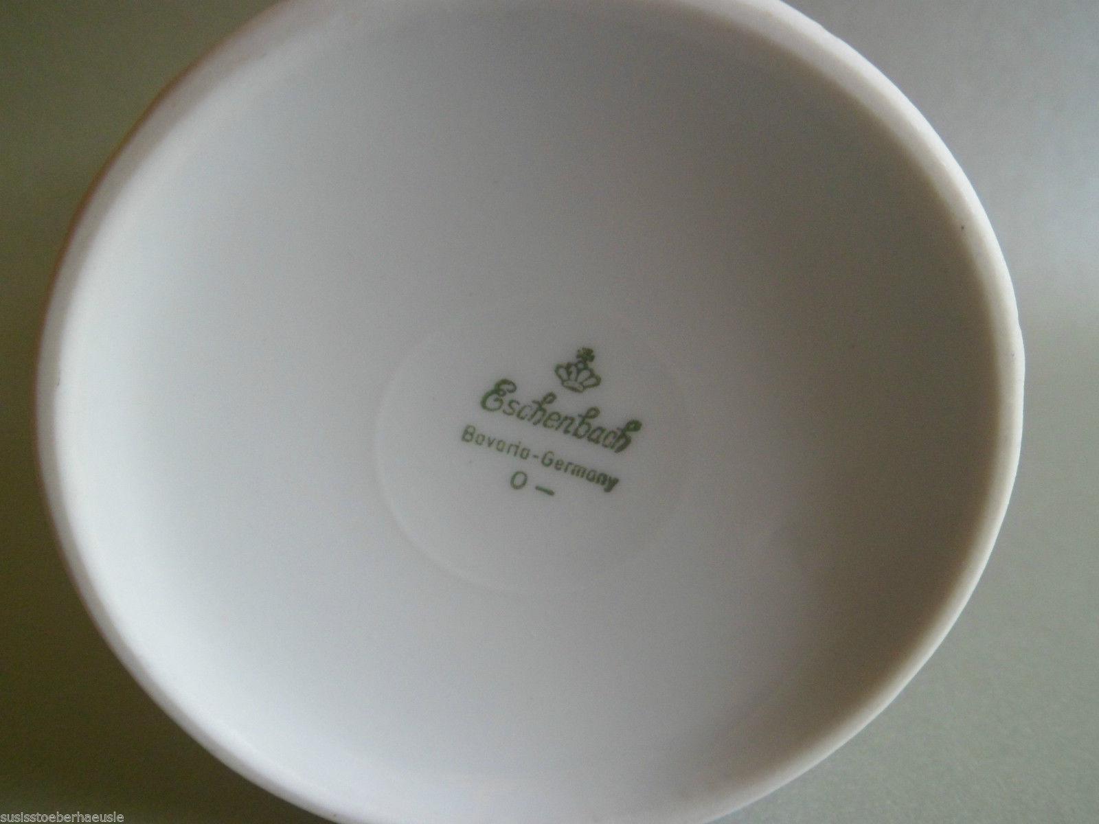 Eschenbach Porzellan Vase weiß mit Golddekor |Nice Deko