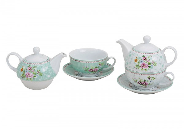 Teekannen-Set Tea for one Blumen